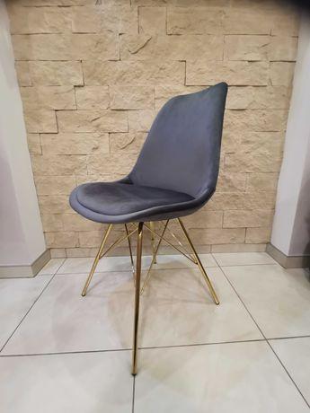 Nowoczesne Krzesła w Skandynawskim stylu NOWE szare