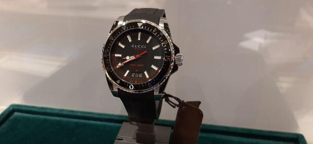 Gucci YA136303 Black Dive NOWY PROMOCJA męski kwarcowy