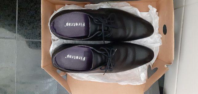 Sapatos adulto pretos 38 couro genuíno