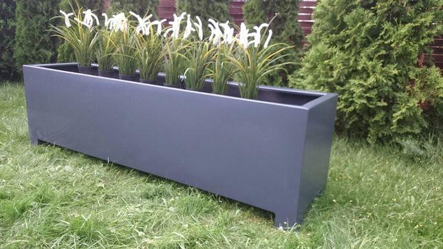 Donica aluminiowa 2000x500x600 na balkon ogród kwiaty Doniczka