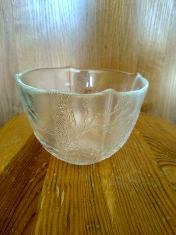 Szklana dekoracyjna waza