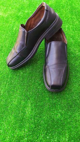 Мужские кожаные туфли 40 р. чоловічі шкіряні туфлі