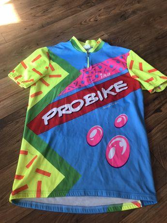 Koszulka na rower neonowa