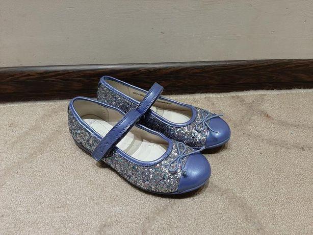 Туфли clarks синие с блестками 18 см стелька