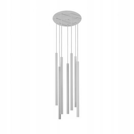 Biała lampa wisząca tuba tuby 7x G9 LASER X WHITE Nowodvorski 8918