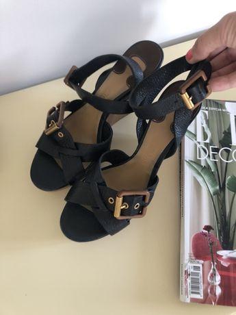 Sandały na koturnie Chloe 38 skóra Oryginał
