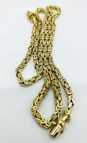 Złoty łancuszek splot krolewki 57g pr.585 NOWY