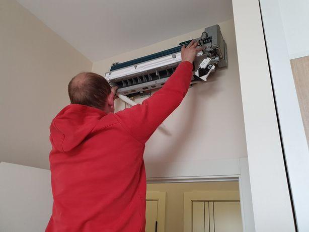 Монтаж демонтаж установка ремонт чистка кондиционеров