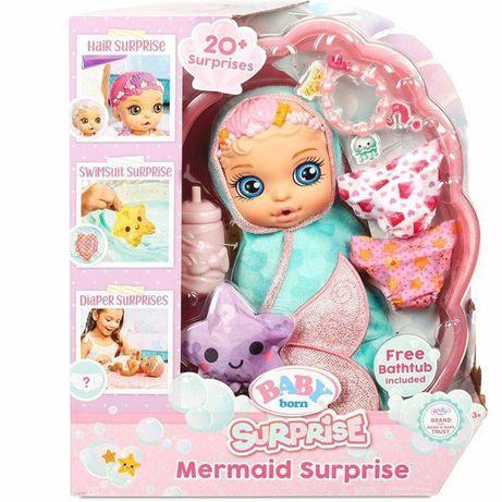 Кукла Беби Борн русалочка русалка Baby Born Surprise Mermaid 20 сюрпри