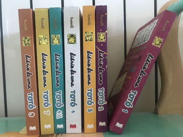 Diversos livros da colecção Diário de uma Totó