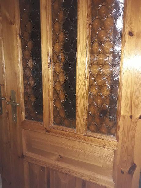 drzwi wewnętrzne drewniane z futryną -kilka sztuk