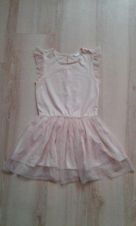 Sukienka brokatowa morelowa 122