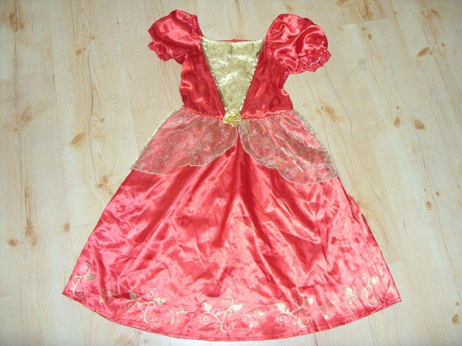 Bella Czerwona sukienka na bal Księżniczka r. 116-128 Kwidzyn - image 1