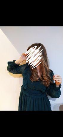 Sukienka butelkowana zieleń