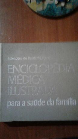 Livro enciclopédia médica ilustrada.