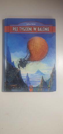 Książka, Pięć tygodni w balonie, Juliusz Verne