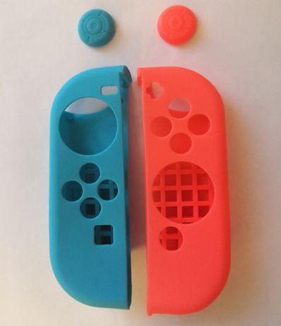 Nakładki Nintendo Switch na joycony i analogi gumki silikonowe osłony
