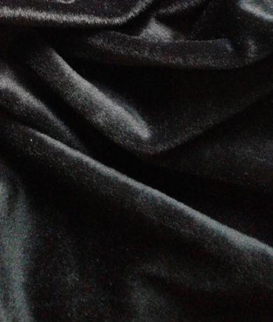 бархат черный метры тканина ткань велюр бархатистый