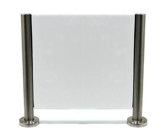 szklana przegroda ochronna na ladę, biurko (osłona antywirusowa)
