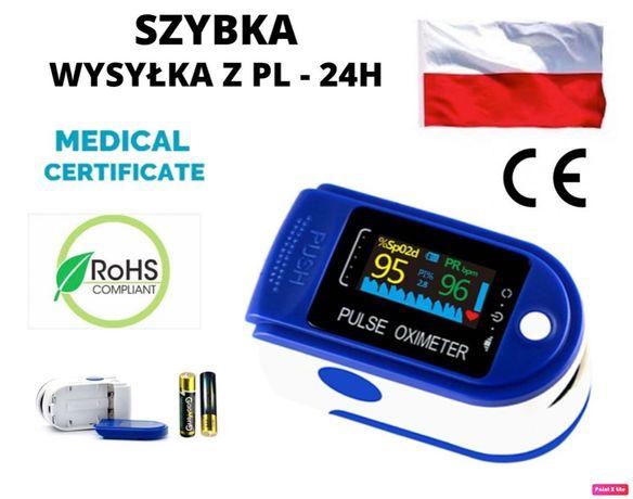 Prezent! Pulsoksymetr medyczny pulsometr 24H wysyłka z Polski + bater
