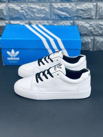 Кроссовки белые кожаные мужские Adidas neo label Yeezzy скидка Адидас