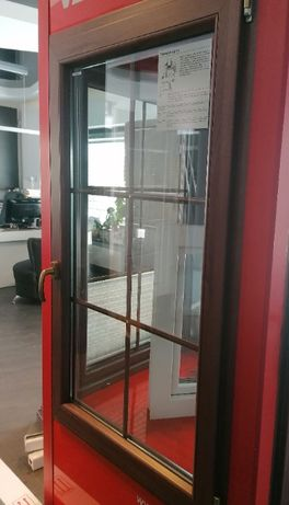 okno Veka pięciokomorowe w kolorze siena rosso 850/1420