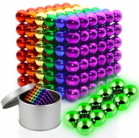 Kulki Magnetyczne Klocki Neocube 5mm 216 SZT +10szt Fluorescencyjne
