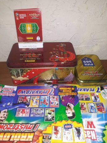 Karty piłkarskie, puszki kolekcjonerskie