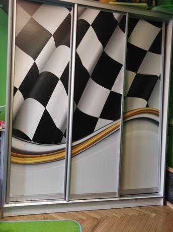 Шафа купе в дитячу Формула 1 для хлопчика/шкаф-купе в детскую