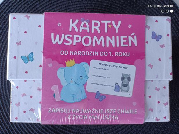 Karty wspomnień dla dziewczynki