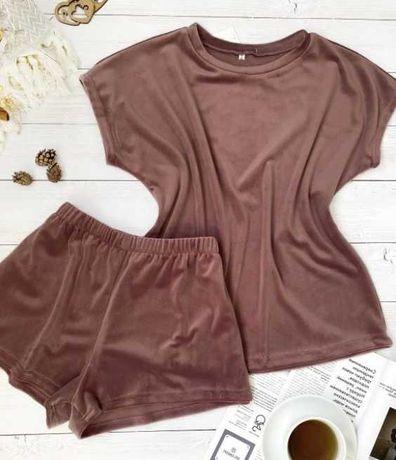 Пижама мягусенький ПЛЮШ шорты и футболка