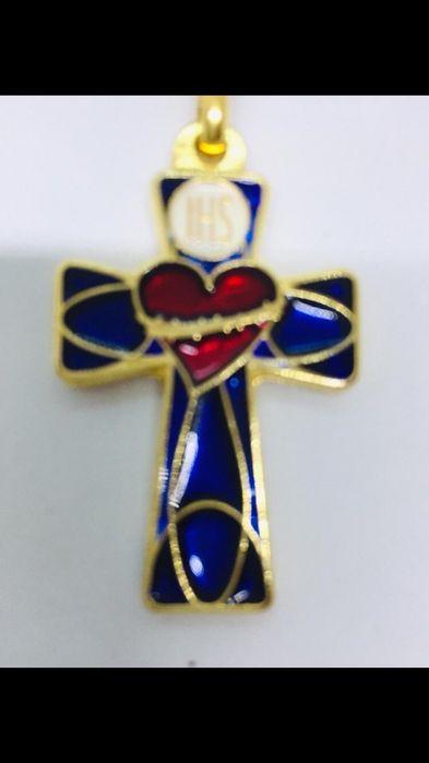 Итальянская бижутерия крест на ленте цепочке из каучук Киев - изображение 1