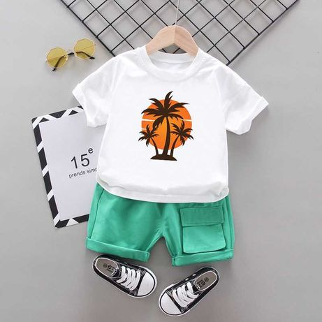 Костюм на мальчика, футболка + шорты (размеры: 73,80,90,100,110,116)