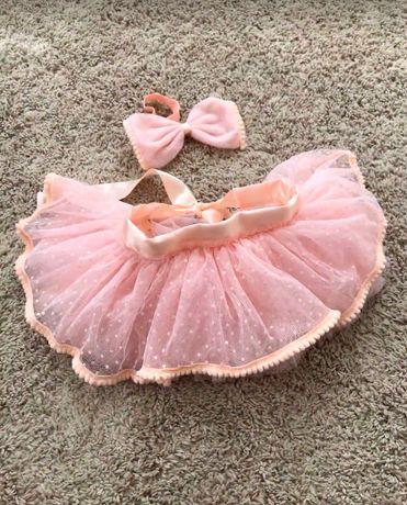 Наряд (ту-ту и повязка) для фотосессии новорожденной девочки
