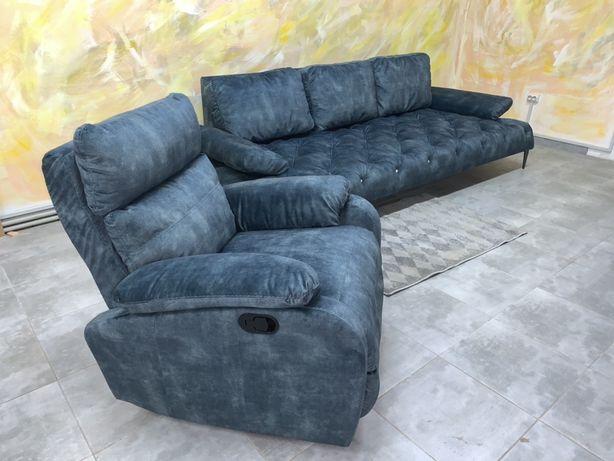 Розкладний шкіряний диван, стильный кожаный диван, мебель Valaga