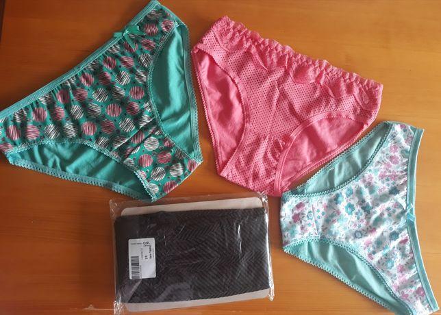 Nowe majtki rajstopy Gatta i 3 pary majtek roz. S