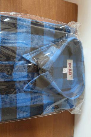 Koszula do pracy r S flanelowa Bear niebieska
