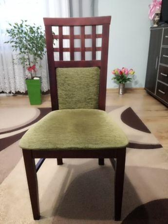 Krzesła 4 sztuki tapicerowane Wenge Zielone nowoczesne wygodne