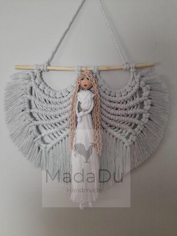 Anioł stróż , pamiątka . Handmade makrama