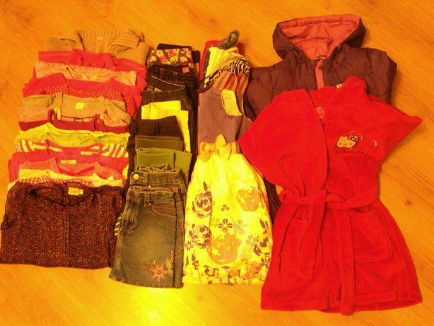 Paczka ubrań dla dziewczynkiroz.110-116