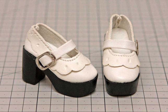 Buty dla lalki BJD Minifee 1/4  białe