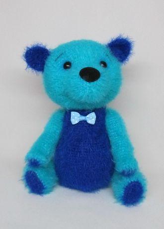 Мишка медведь вязаная игрушка ручная работа