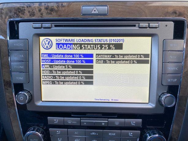 VW Phaeton RNS 810/510 Polskie Menu Mapa 2020 v17 East West Radary