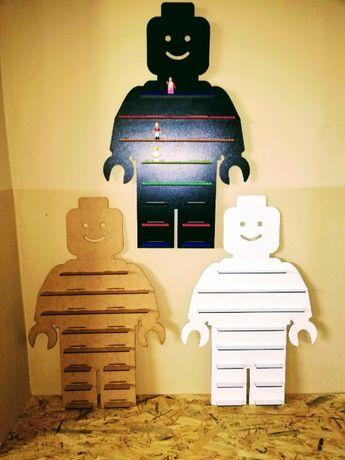 Półka na klocki ludziki Lego 68 cm GRATIS IMIĘ Mega duża