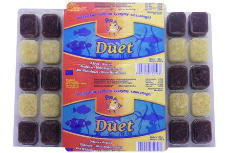 Duet (ochotka + wodzień) - pokarm mrożony dla ryb blister 100g