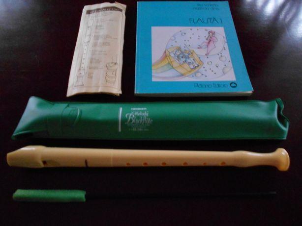 """Flauta """"HOHNER""""+Livro """"Flauta 1"""""""