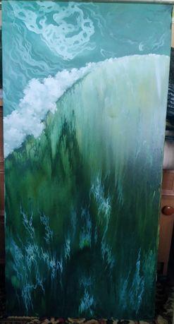 картина маслом трави море волна