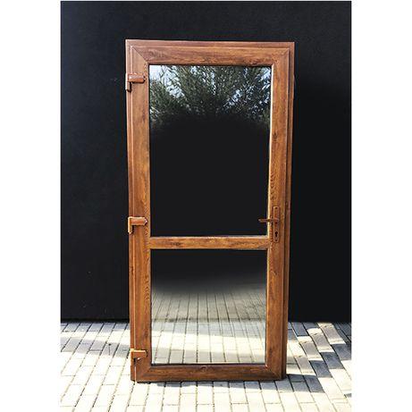 Drzwi PCV 90x200 Złoty Dąb