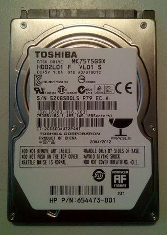 Жесткий SATA диск 2.5 Toshiba HD2L01 MK7575GSX на 750 Гб