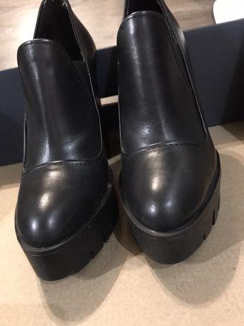 Ботинки Zara ботильоны кожаные